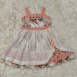 Matilda Jane SPICED CLOVE Dress 4 Toddler 4T Lace